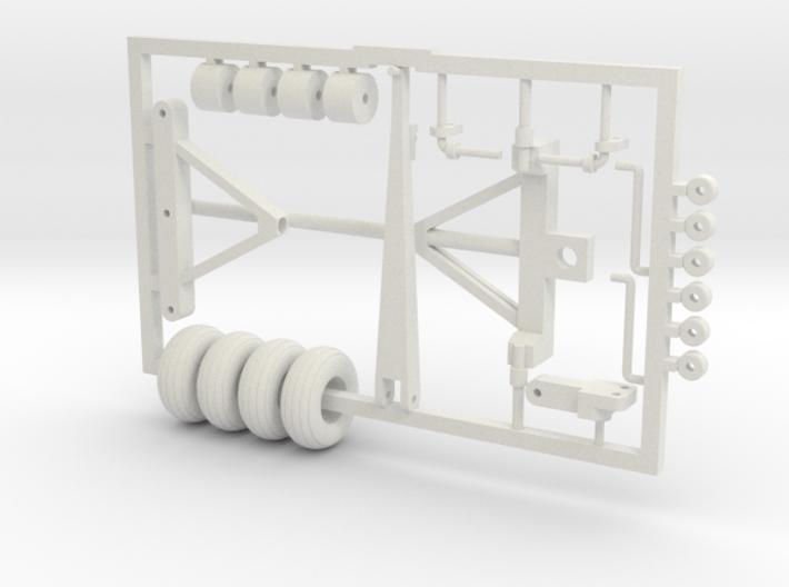 1/64 Wagon Running Gear Kit 3d printed