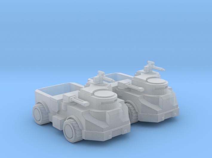 Genetic Cultist Behemoth Truck Fleet 3d printed