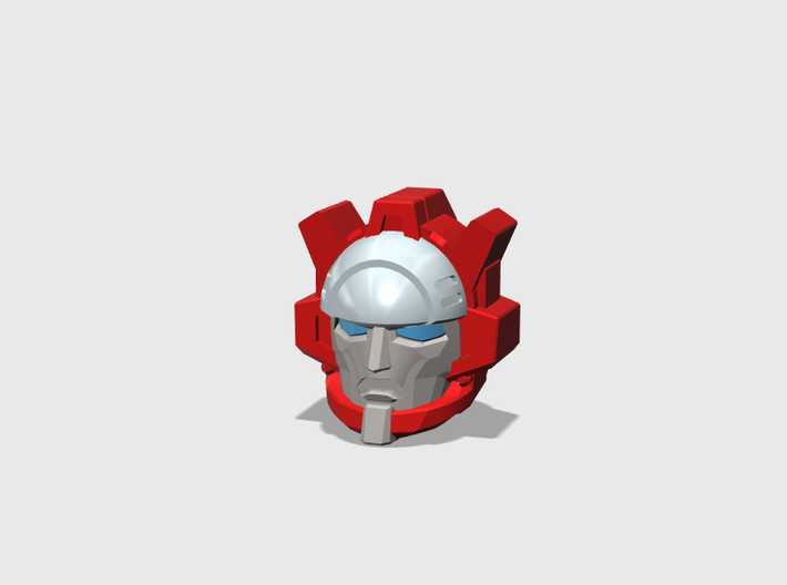 Panicking Fire Chief's Face - MTMTE 3d printed