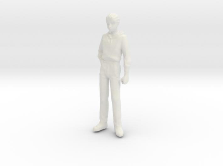 1/24 Modern Wear Curly Hair Man Standing 1.8 m 3d printed