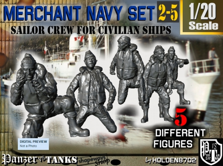 1-20 Merchant Navy Crew Set 2-5 3d printed