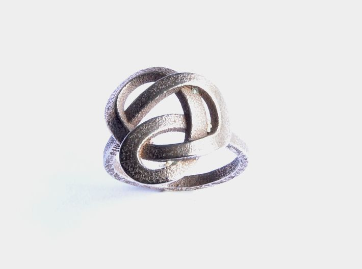 Infinity Love Ring 3d printed Stainless Steel Ring Celtic