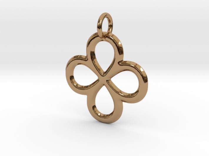 Dual Infinity Flower Pendant 3d printed