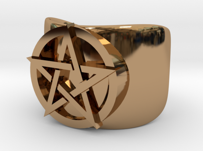 Pentacle Ring - large (choose size) 3d printed