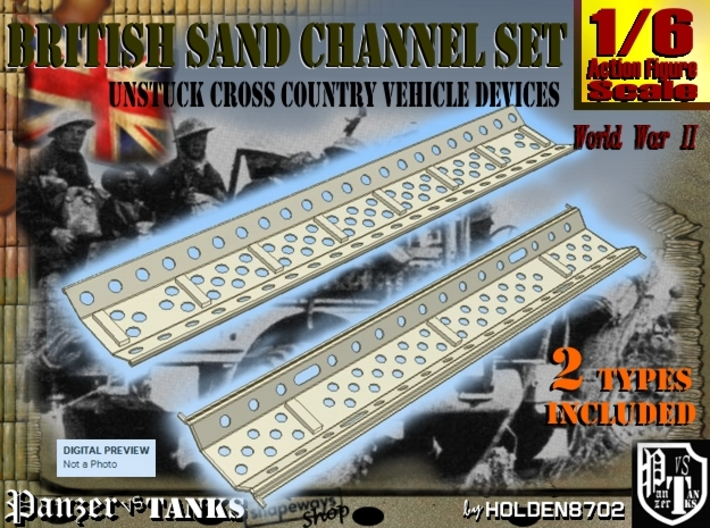 1-6 British Sand Channel Set 3d printed