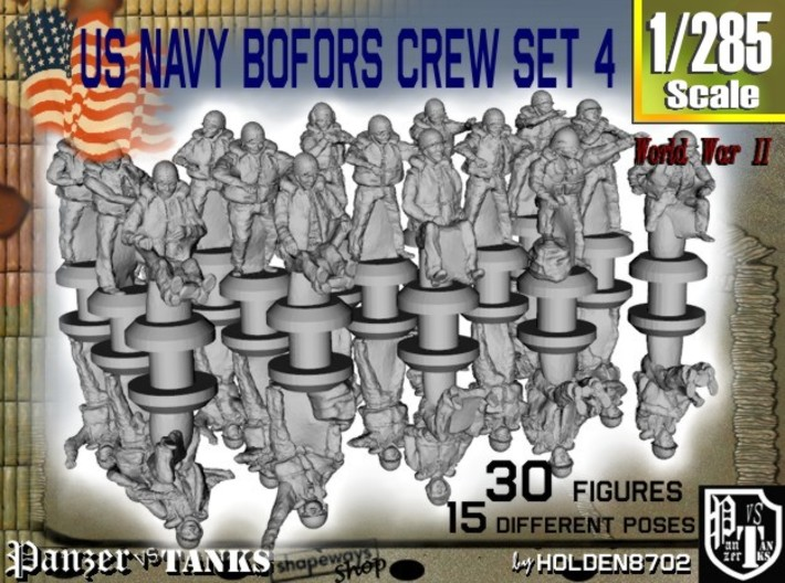 1-285 US Navy Bofors Crew Set 4 3d printed