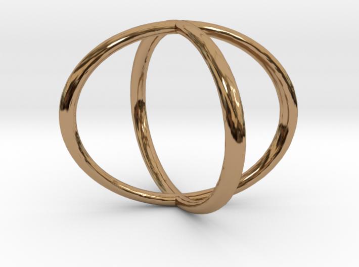 Two Circles Ring 3d printed