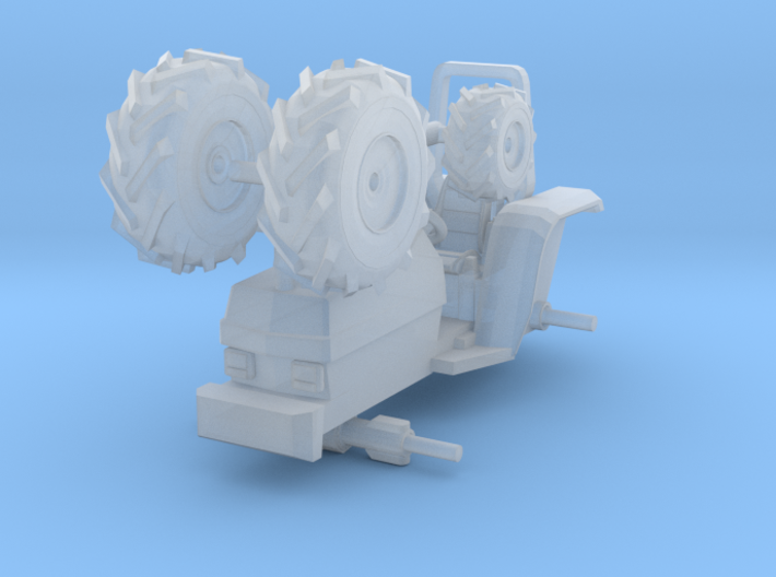 1/87 Scale Small Farm Tractor 3d printed