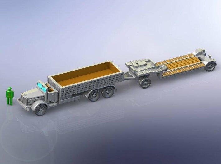 Faun L900 Truck & sd.Ah. 115 Tank-Trailer 1/285 3d printed