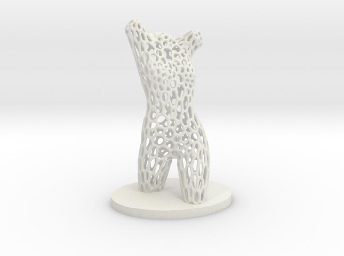Dancer Torso 01 Voronoi Style 3d printed