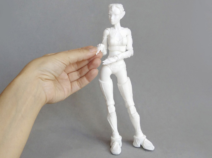 "Jointed Doll ""Lantea"" 3d printed"