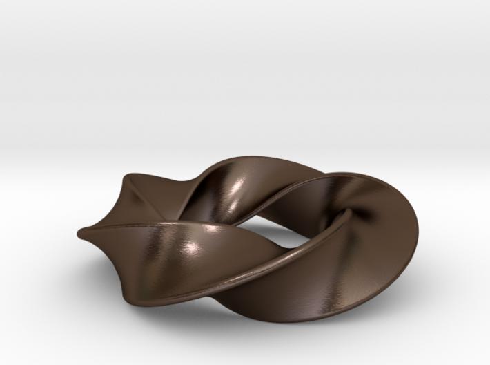 Python 3-5 Torus Knot Pendant 3d printed