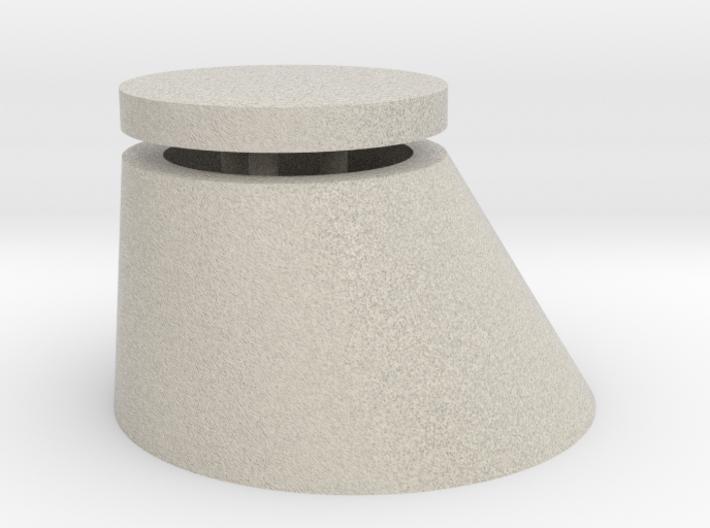 Spur2 Revischacht Oberteil Sandstein B 3d printed
