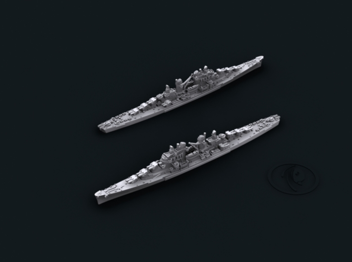 1/4800 USN Atlanta Class CLs 3d printed CL52 Juneau(I) [1942]; note boats and crane amidships