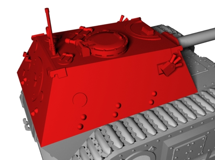 28mm Fedya cabin without gun 3d printed only those parts that are marked red
