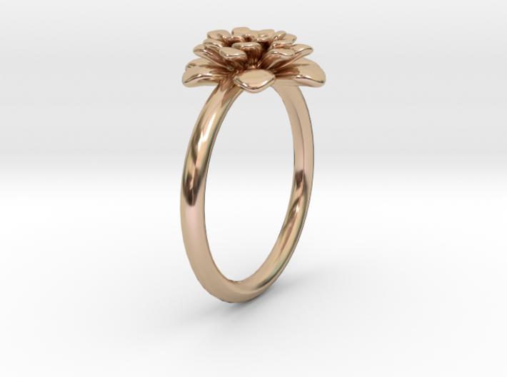 Chrysanthemum Flower Ring 3d printed