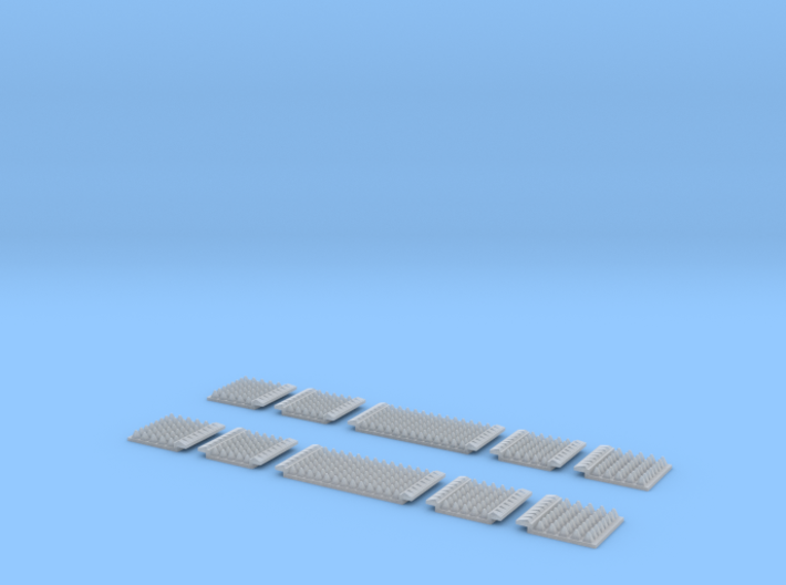 N Gauge Polymer Anti Trespass Panels Streamline 55 3d Printed