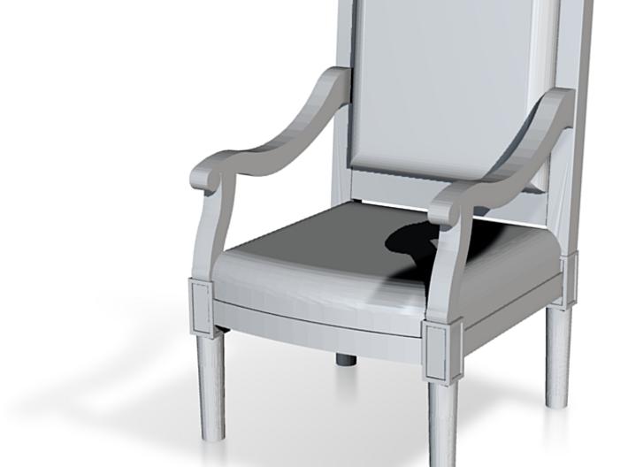 1:144 Louis XVI Chair Straight Back 3d printed