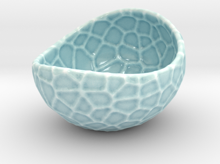 Porcelain Plant-pot in Water-Look (size XL) 3d printed