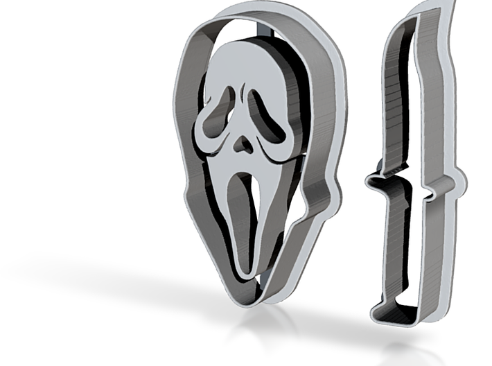 Ghostface And Knife 3d printed