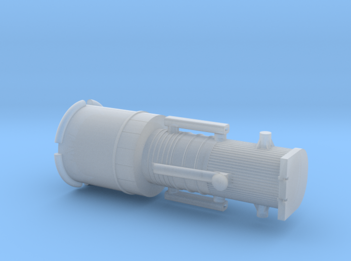 012H Hubble Stowed - 1/500 3d printed