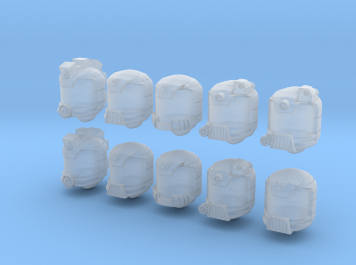 Golden Trooper Helmets - 10 28mm Custom Heads 3d printed