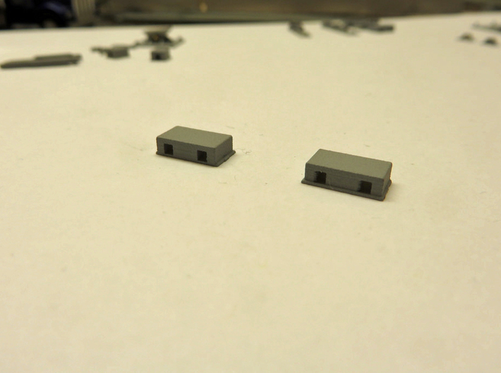Double Carfloat Toggle Pocket - 1/87 3d printed