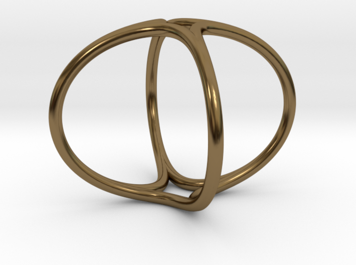 Ring The Hula Hoop II /size 6 US (16.5mm diameter) 3d printed