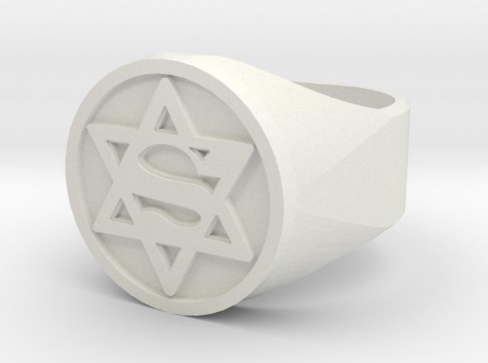 Ring US 12 Super Jew Signet 3d printed