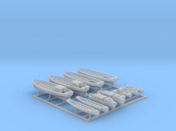1/600 WW2 RN Boat Set 2 without Mounts 3d printed 1/600 Royal Navy WW2  Boat Set 2
