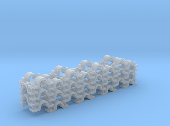 """Pipe Clamp (Wall) 1/16"""" (x52) 3d printed"""