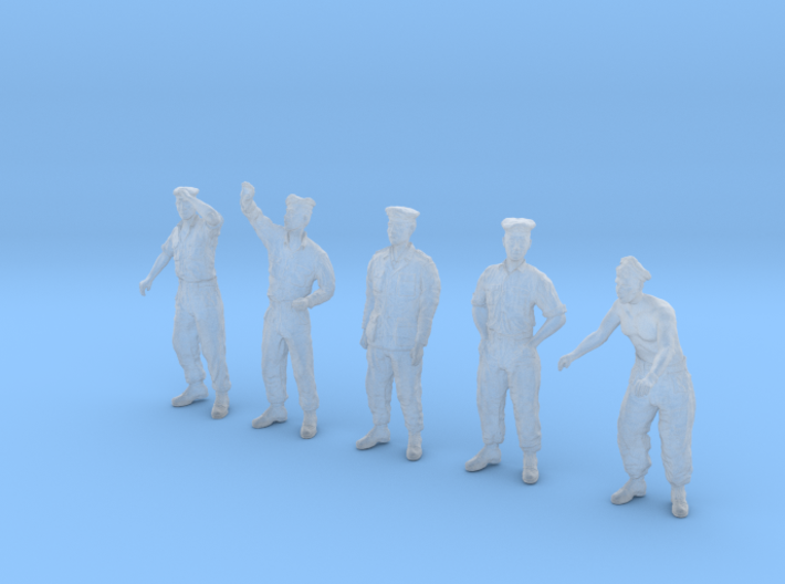 1-48 German U-Boot Crew Set3-5 3d printed