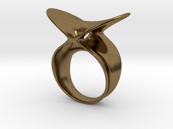 Ring bilingua 3d printed