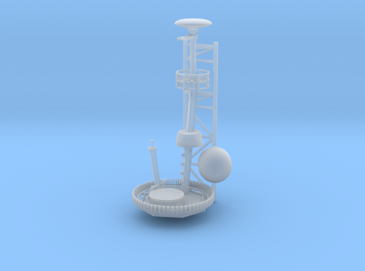 1/96 scale Arleigh Burke mast - Top option 1 3d printed