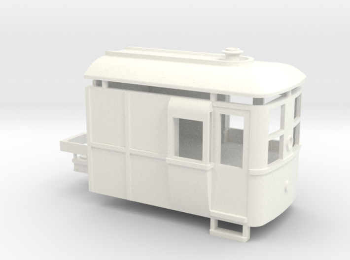 009 Sentinel Steam Railcar Tractor 3d printed