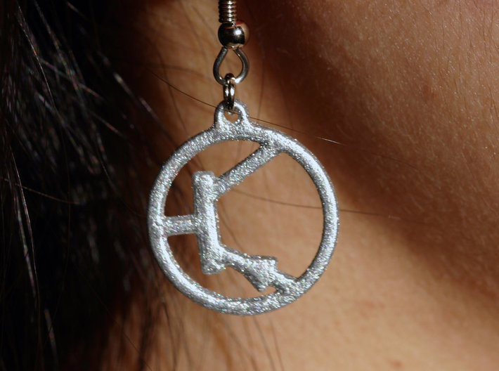 Transistor Symbol Earrings for Electrical Engineer 3d printed