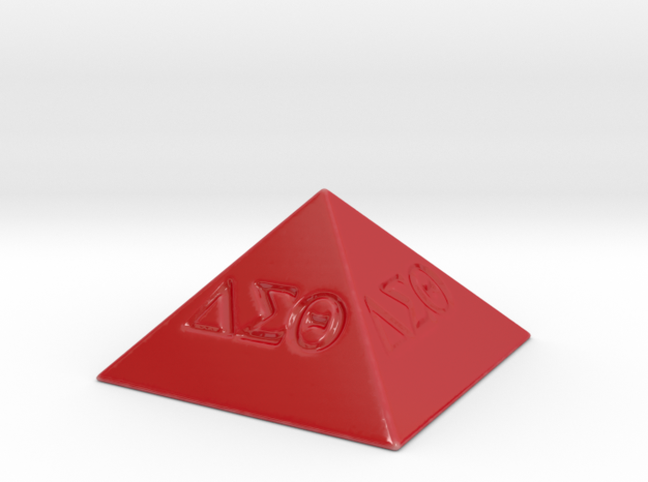 Delta Sigma Theta Decorative Pyramid 3d printed