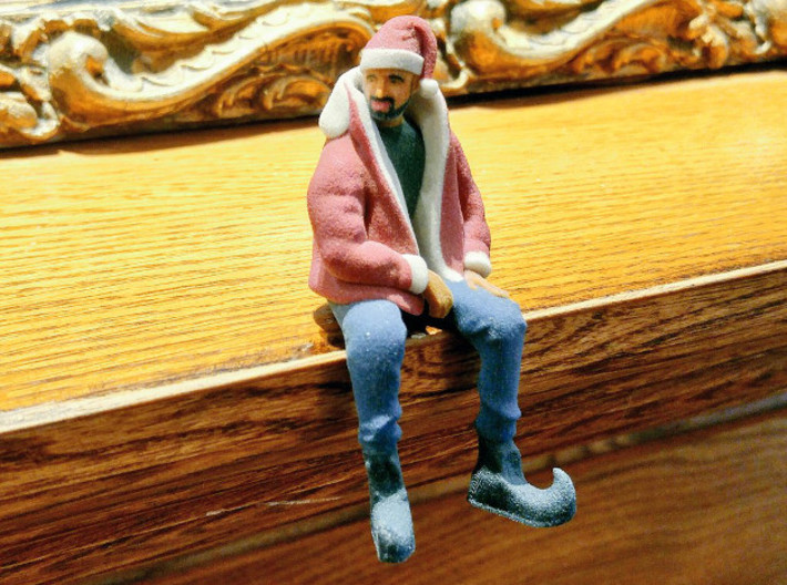 Christmas Drake | Drizzy Dringle 3d printed Drizzy Dringle waits on the fireplace mantle