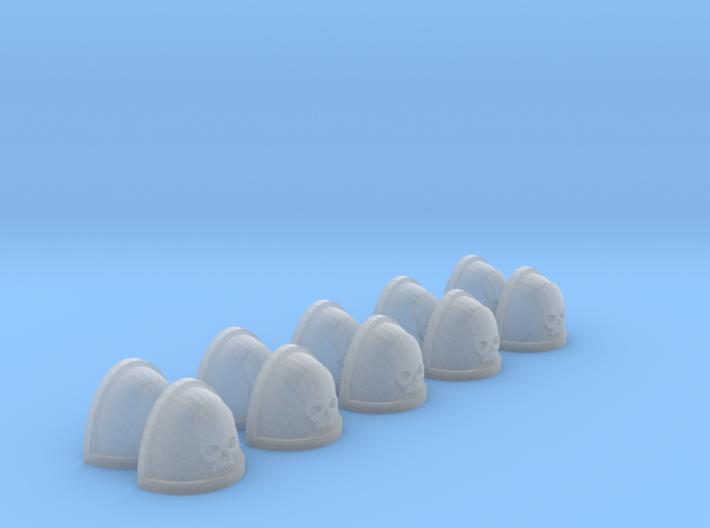 10 Shoulder Pads Skull 3d printed