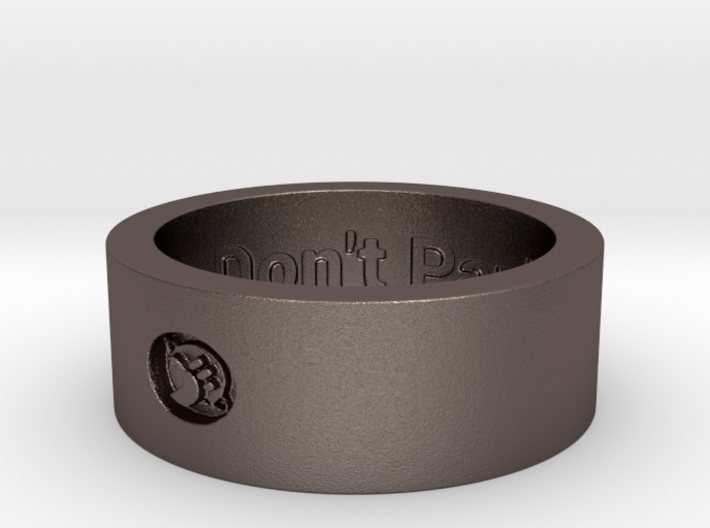 Hitchhikers Thumb Ring ver 14 DP Ring Size 14 3d printed