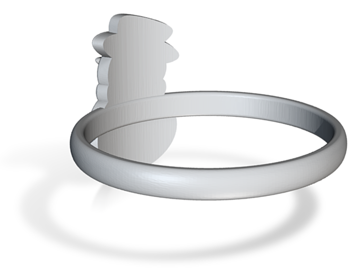 Snowman Ring US7 3d printed
