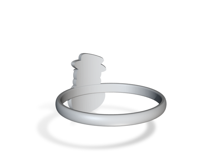 Snowman Ring US8,5 3d printed