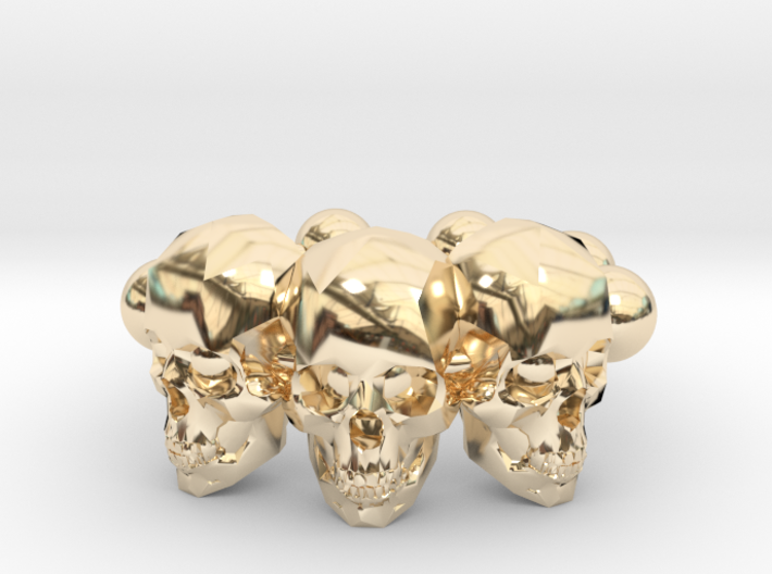 Ring The Skull / size 10GK 5US ( 16.1 mm) 3d printed