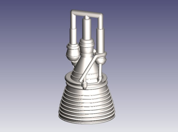 J-2 Engine (1:200) for Saturn IB or V 3d printed J-2 Engine in 1:200 Scale (CAD Rendering)