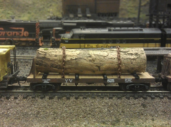 Yosemite Bulk Head Log Car x3 - N Scale 1:160 3d printed