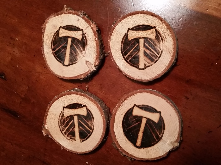 Portland Timbers Branding Iron 3d printed
