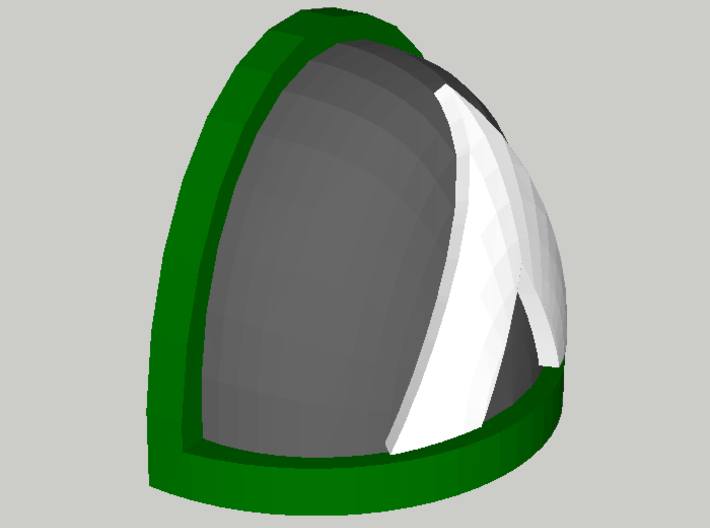 20 Shoulder Pads Triangle 3d printed