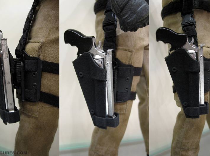 Dwayne The Rock Johnson's 1:6 Safariland holster 3d printed Printed and mounted onto a thigh panel