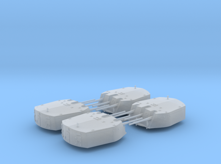 1/600 RN Triple 6 Inch MKXXIII Turrets (4) 3d printed
