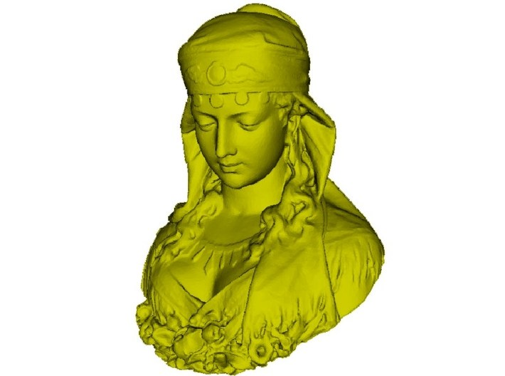 1/9 scale gypsy girl bust 3d printed